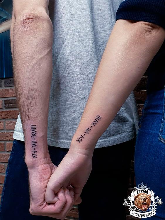 сделать парное тату на руках римские цифры в Красноярске