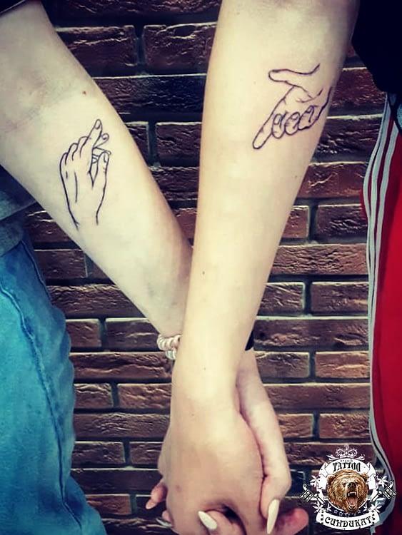 сделать тату на руке парное фото в Красноярске