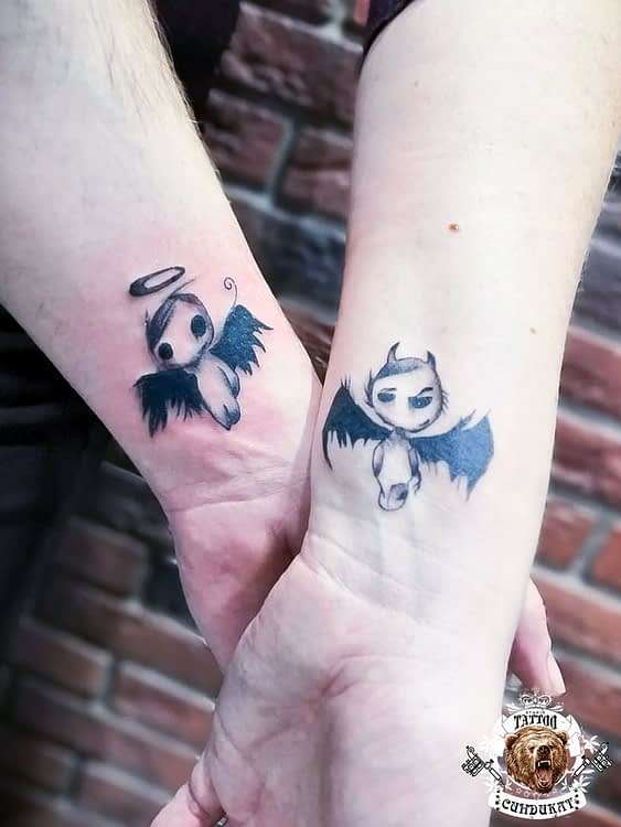 сделать парное тату на руке ангелы в Красноярске