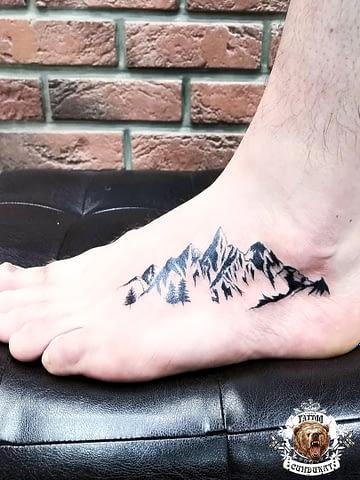 сделать тату на ноге горы в Красноярске
