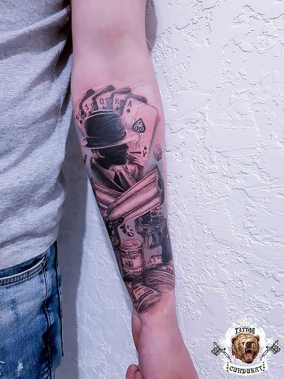 сделать тату на руке гангстер, карты в Красноярске