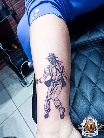 сделать тату на ноге майкл джексон в Красноярске