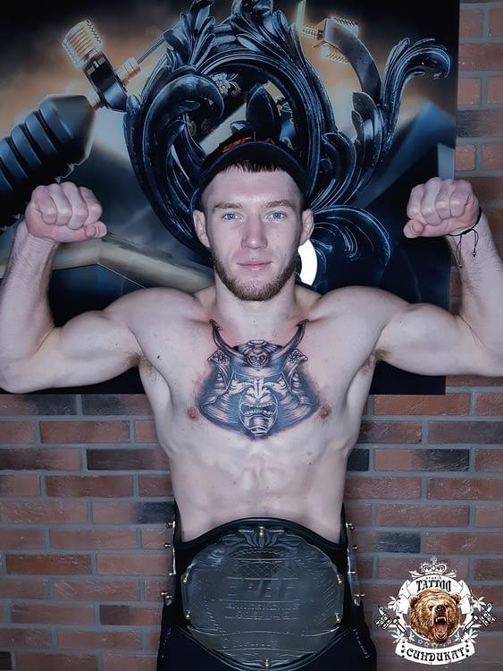 сделать тату на груди маска воина самурая в Красноярске