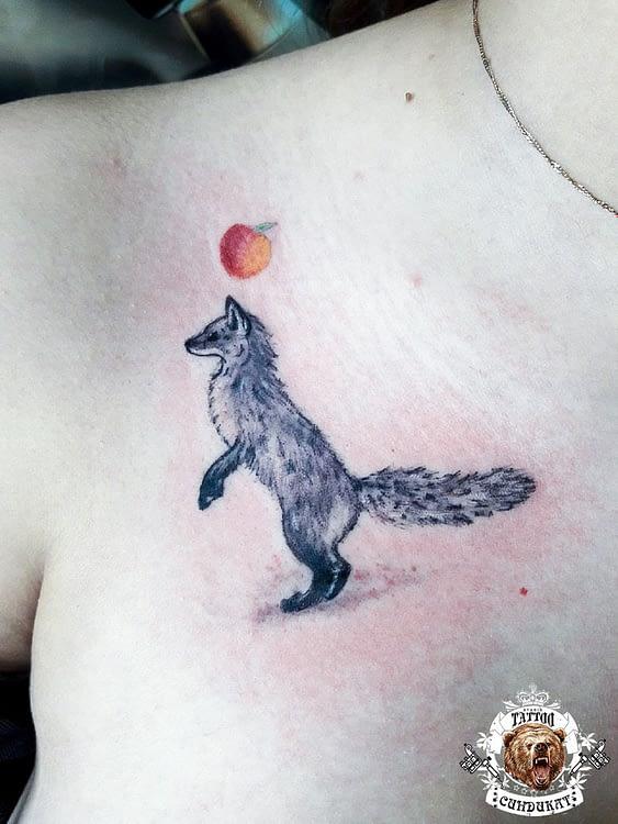 сделать тату на плече лиса в Красноярске