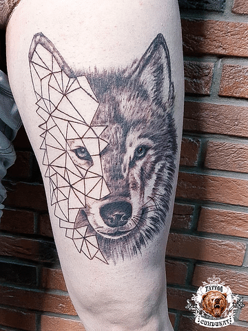 сделать тату на ноге волк в Красноярске