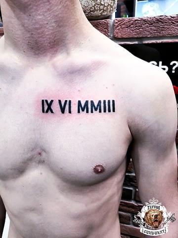 сделать тату на груди дата рождения в Красноярске
