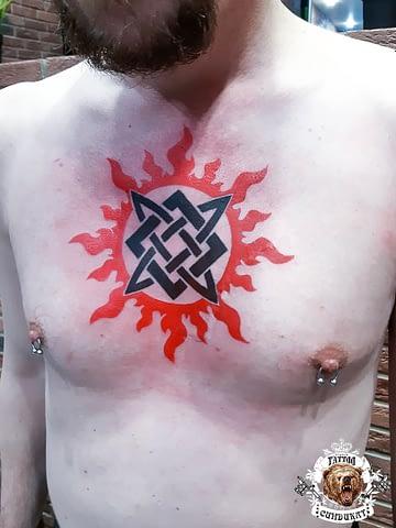 Сделать тату на груди славянский символ в Красноярске