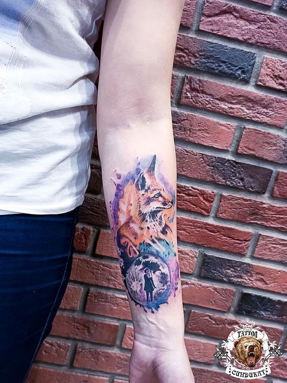 сделать тату на руке лиса в Красноярске