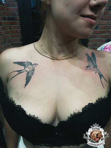 сделать тату на груди птицы в Красноярске
