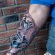 сделать тату на руке тигр в Красноярске