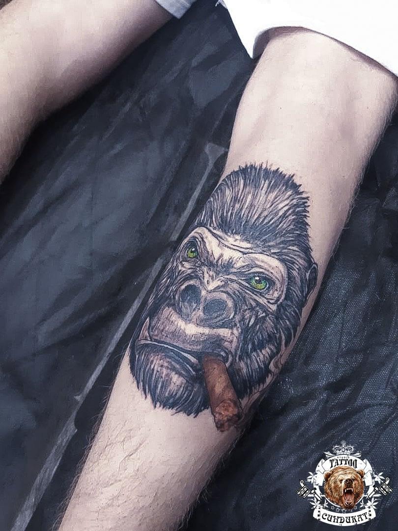 сделать тату на ноге горилла в Красноярске